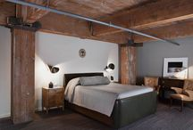 Rustic, Industrial, Loft / I am sure I am not the only one that LOVES the blend of rustic-Industrial-Loft feel to a room!