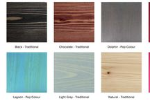 Exterior Stain / Finish Color Options / Stain & Penetrating Hardwax Oil Color Options for Exterior decks and other exterior applications.