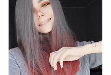 Değişik saç renkleri