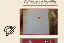 Activité pour la fête des parents / Une activité basée sur la peinture où les enfants reproduiront leur famille, une très bonne idée pour la fête des parents!