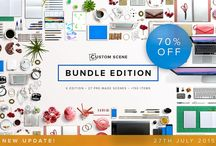 Graphic Design Files / Love these easy to use mock-ups, themes and fonts