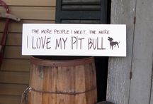 Pit Bull Art / Pit Bull Art. Handmade signs, prints and posters