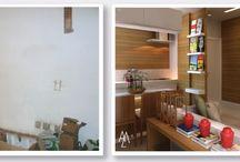 AM Antes & Depois / Projetos de Interiores e de reforma executados por nosso escritório.  Here you will see the before and after of interior design done by Angela Meza.
