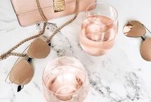 Marble and Rose gold