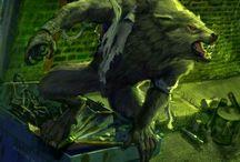 Lobisomem Criatura Mítica / Lobisomem ou licantropo, é um ser lendário, com origem na mitologia grega, segundo as quais, um homem pode se transformar em lobo ou em algo semelhante a um lobo em noites de lua cheia, só voltando à forma humana ao amanhecer.