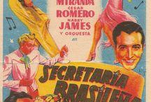 Programas de Cine - La Trastienda / Programas de cine antiguos, desde mediados de los años 30 hasta principios de los 60. Retratos de actores, cromos, libros antiguos...http://www.latrastiendaantigua.net / by Ana Konda