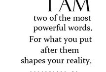 Positive affirmations ~ I Am / The two most powerful words ...