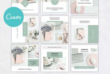 Шаблоны для бизнеса и соцсетей Canva | templates for busines and social media Canva
