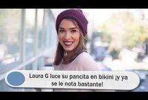 Laura G luce su pancita en bikini ¡y ya se le nota bastante!