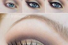 Yeux ombres gris/doré/eye-liner