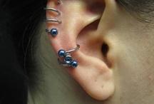 Conch piercings