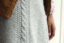 Knitted skirts/dresses
