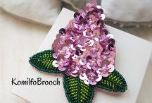 Sequin Brooch