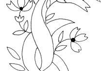 folhas e ramos / bordados