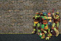 Ninja Kaplumbağlar Ücretsiz Parti Seti-Ninja Turtles Free Printables