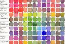 Colours / Watercolour colour charts and colour swatches I have found