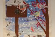 Výtvarná výchova - zima