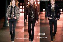 Saint Laurent uomo / Saint Laurent collezione e catalogo primavera estate e autunno inverno abiti abbigliamento accessori scarpe borse sfilata uomo.