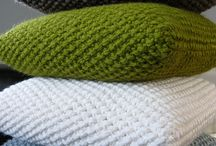 Cushion covers knitted