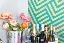 A Kailo Chic Life - Home Decor / Home decor projects full of color and prints and patterns. Graphic, bold pops of color.