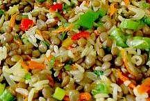şehriyeli yeşil mercimek salatası