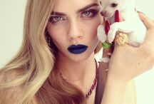 First Instagram Fashion shoot by Nick Knight / with  model Carine Delevigne