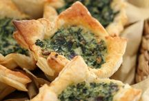 Ricotta and spinach tarts