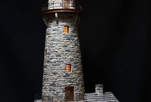 miniatures - lighthouses, castles and houses