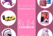 Offers At Cashkaro / Different offers which online shopping sites provide with extra cashback from Cashkaro .
