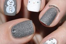 nails design winter christmas