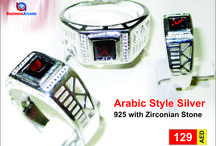 Arabic Style Silver 925 with Zirconian Stone ANDR-74 / Buy all types of Fashion Rings at Jewelery | women fashion | BusinessArcade.com Uae. we offer branded and latest design fashion jewelry having best quality at a best price.