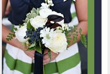 Emerald green and navy wedding inspiration