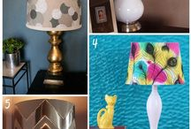 DIY & Crafts: Lamps/Ligthings /  lamps using assorted materials chandeliers, lighting