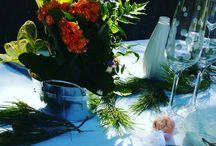 Mariée d'automne ! / Une de nos séances d'inspiration pour un mariage en automne.  Une mariée moderne qui porte une robe courte. Une table aux notes orangées et une déco 100% naturelle !