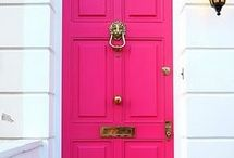 She's out the door but she hasn't left yet  / I am not shopping for a door rather just looking. I love looking at unique doors.