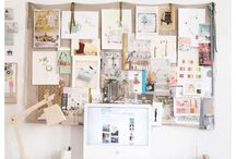 Creative Spaces / Creative homes, creative offices, art studios, inspiring studios, artist loft, artist exhibits, creative home office, children creative space, art space, art desk, creative work spaces