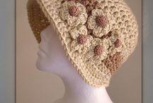 Crochet hats and scarfs