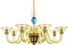 Guliana Jewel - Mollini / Universal 8 arms #chandelier is made of best quality transparent blown #glass. Chromed gold construction gives #elegance and #unique presentation. The attention is attracted by indigo glass elements, which remind noble jewellery. Classic form of the lamp fits to stylized rooms and modern #interiors.