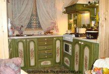 Кухня декупаж, роспись