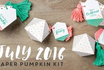 Paper Pumpkin July 2016 - What A Gem / July 2016 Paper Pumpkin Kit