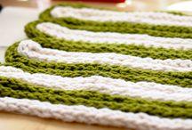 abby's finger knitting