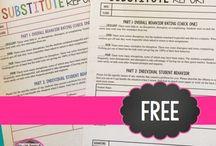 Substitute Teacher / Resources for sub plans