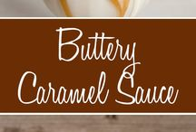 Caramel sauce, apple sause