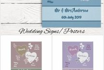 Wedding: signs/posters