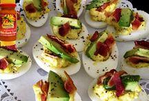 surinaams eten, avocado gevulde eieren