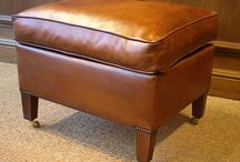 Leather Foot Stools & Leather Ottomans