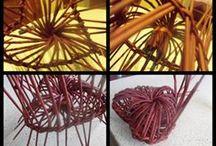 Pletení z papíru - ozdoby
