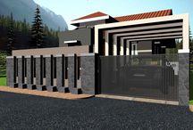Pagar & Rumah minimalis