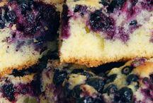 dessert / gateau bleuets