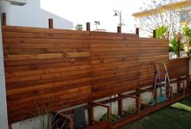 privacy wooden wall / this project is because a want more privacy at home , and the concreate wall was ugly and opened to the neighbour. easy , beautifull and cheap